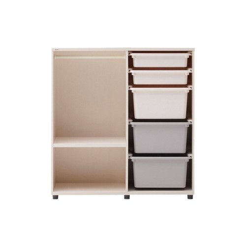 This is an infant daily wardrobe where children's clothes and accessories can be neatly organized.