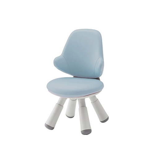 Iloom Wing Chair Artificial Leather Kids Light Blue