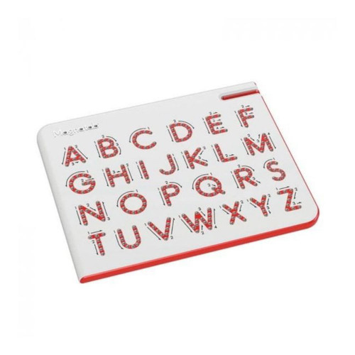 Kids writing their first letters will get helpful up, down and sideways instructions via easy-to-follow arrows.