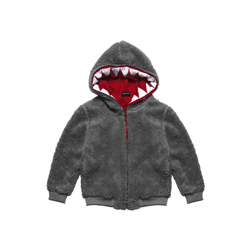 NICE 2 EAT U FURRY GRAY is a multifunctional hoodie that every child will love. Made of teddy-bear material, it can be a sweatshirt and a jacket for slightly cooler autumn days or early spring.