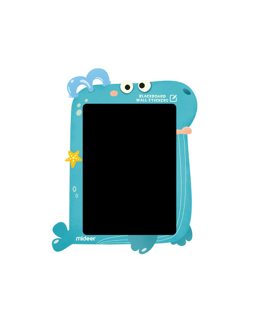 This Chalkboard Wall Sticker is self-adhesive on most smooth, flat and clean surfaces like plastered walls, painted walls, windows, mirrors, countertops and wooden doors, etc.