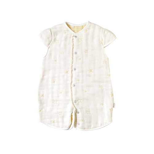10mois six-layer gauze 2way sleeping vest ecru