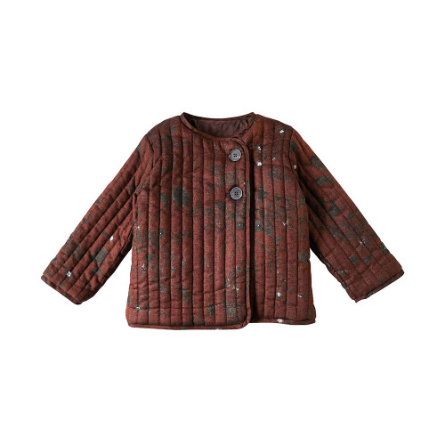 NAOMI ITO quilted jacket brown 80cm