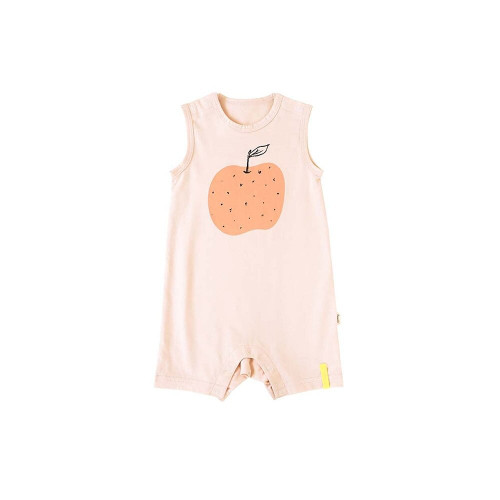 Rompers with apples, oranges, grapefruits and large fruits.