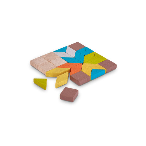 Create your masterpiece with this Mosaic. It consists of 26 pieces of geometric shape with various colors.