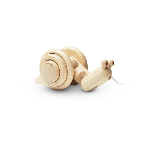 Both balance and coordination are developed as children practice walking and adventuring on their own while pulling the snail along.