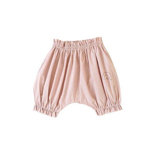 Soft and bulging W gauze balloon pants with patterns drawn by sashimi embroidery.