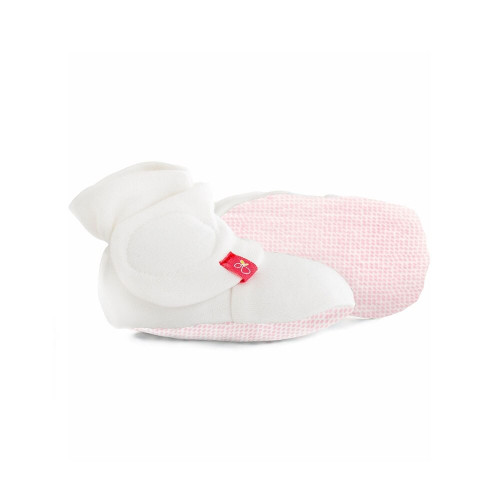 The industry's first two-part closure for a baby bootie, making it easy for single-handed on and off.