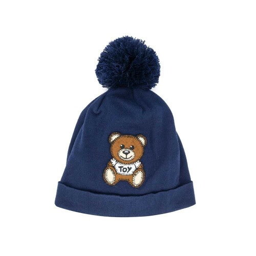 Moschino Hat With Bear Toy Patch NAVY