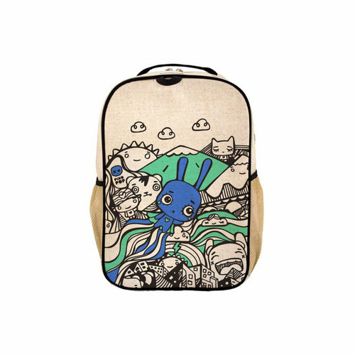 SoYoung Toddler Backpacks  Raw Linen Pixopop Flying