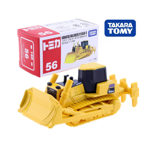 Takara Tomy Tomica No. 56 Komatsu Bulldozer D155AX-6 Scale 1/109 Construction Vehicle Diecast Metal Model Kit Toys For Children