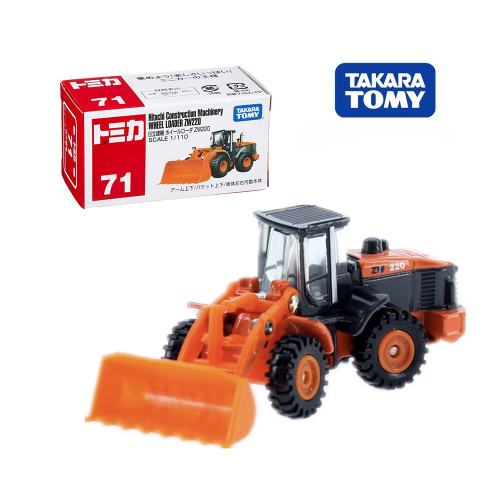 Takara Tomy TOMICA No.71 Hitachi Construction Machinery Mould Wheel Loader Zw220 Model Kit Diecast Miniature Minicar Toy