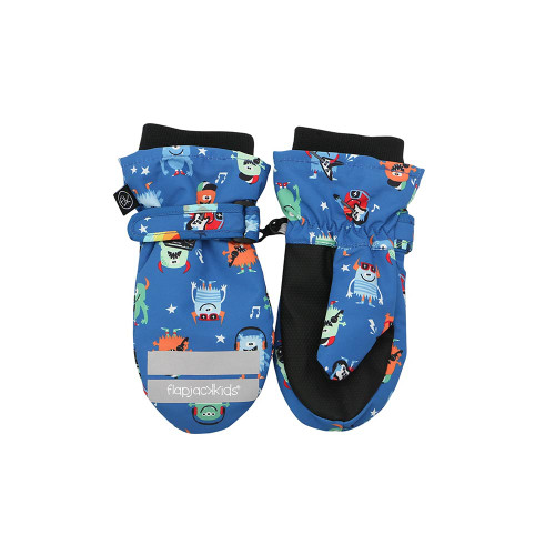 Flapjacks Water Repellent Ski Mittens Monsters Our beautifully crafted ski mittens will keep little fingers dry and toasty so that your child can enjoy long-lasting play in the outdoors.