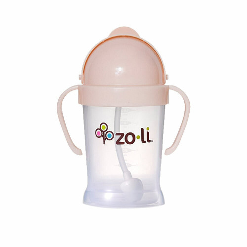 Zoli Bot Straw Sippy Cup 6oz Blush