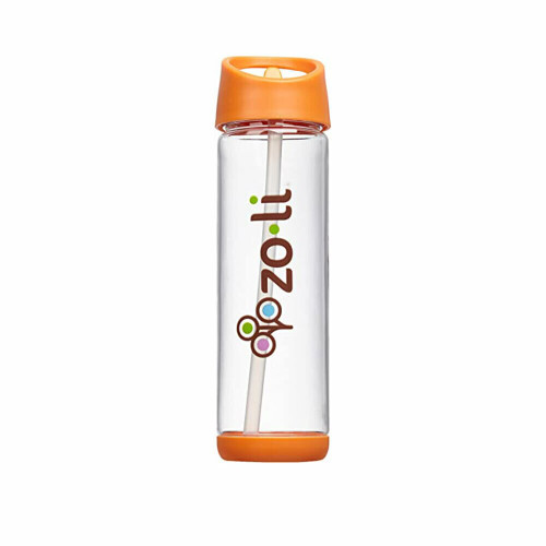 Zoli Pip Straw Water Bottle 18oz Orange