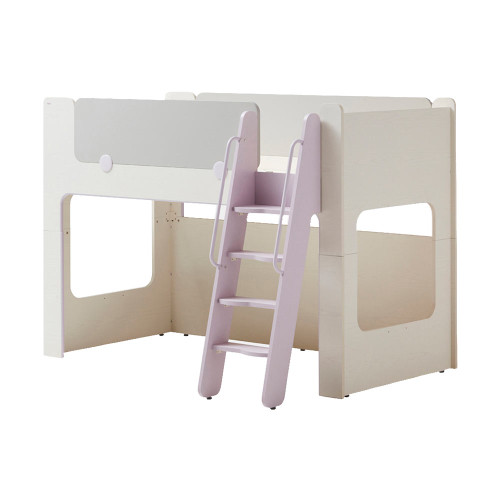 This cabin bunk bed stands out with color point design that children love and efficient use of space.