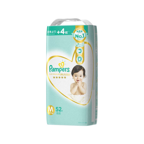 Pampers Best for the First Skin  Super Diaper M 52pc (6-11kg)