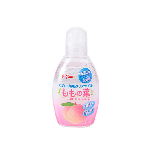 A medicated clear oil containing a moisturizing ingredient, thigh leaf extract. It can be used by babies from around 0 months of age.