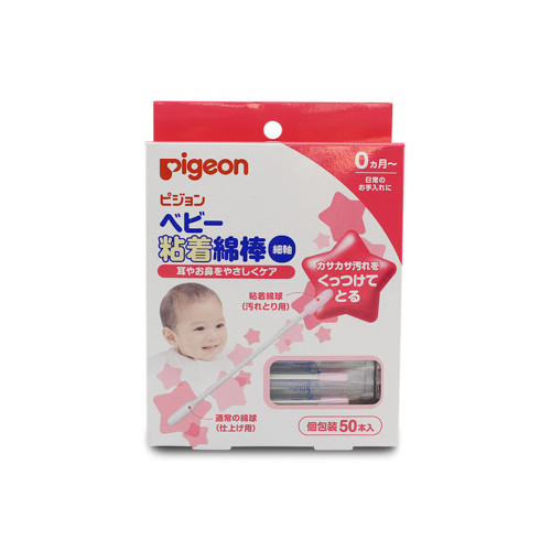 Recommended for dirt around the ears and earwax. An adhesive type cotton swab that sticks and removes dry dirt.