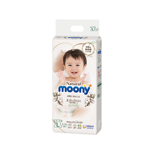 Unicharm Natural Moony Diaper L 38pcs