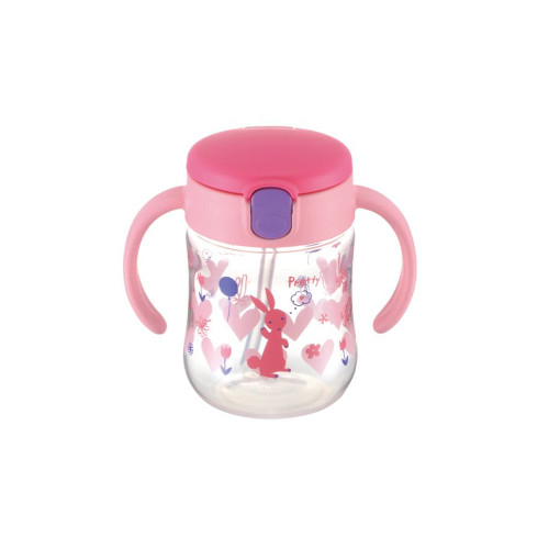 Richell Straw Cup 200ML Pink
