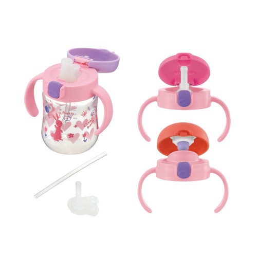 Richell Straw Cup 270ML Set Pink