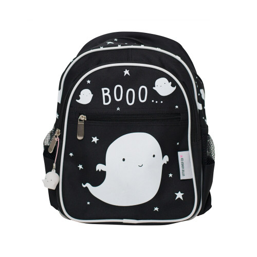 The backpack has many pockets for storage, including two side pockets, making it ideal for any kids daily needs.