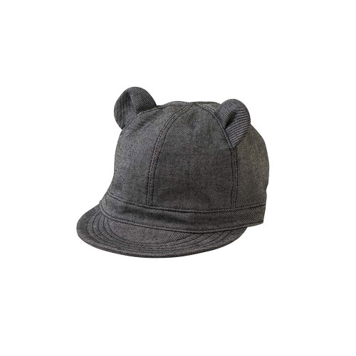 Animal cap with the image of a rabbit. A shape that blocks the sun with a collar and a sunshade.
