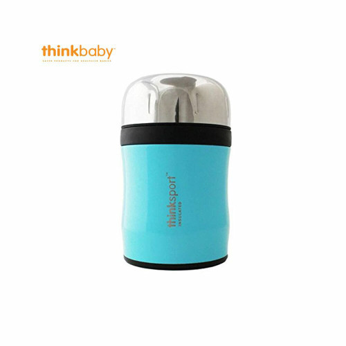 Think Baby Insulated Food Container with Spork  Blue
