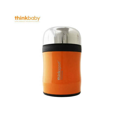 Think Baby Insulated Food Container with Spork  Orange