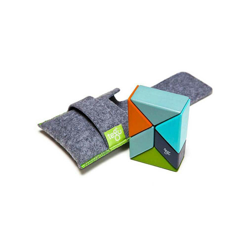 The Pocket Pouch Prism is the perfect introduction to the world of Tegu magnetic wooden blocks. It's the perfect toy for the purse, restaurant, airplane, or desk.