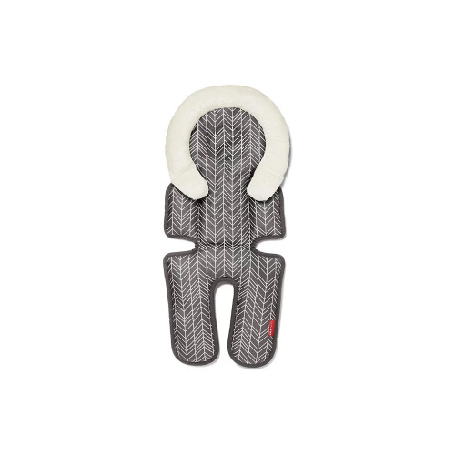Skip Hop Stroll & Go Cool Touch Infant Head and Body Support Grey Feather