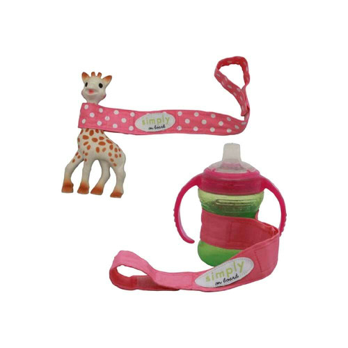 These stylish straps are a must-have for all parents of babies and toddlers. Simply attach one end to a stroller, car seat, crib, carrier or shopping cart.