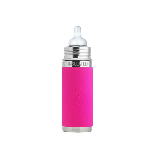 Our award winning 9oz Insulated Kiki infant bottle is 100% plastic-free, environmentally progressive, and adapts to the needs of your growing child.