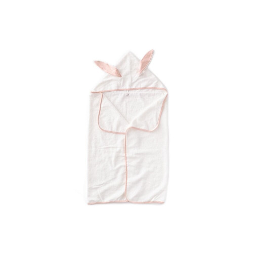 Oeuf Kid Hooded Towel Light Pink/Rust Dots