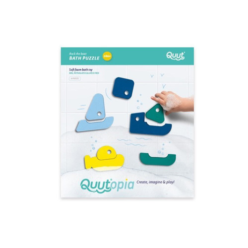 Have fun in the bath by matching the correct parts together and discover our cute litte boats: a submarine, a sailing boat, a catamaran and a cargo boat.