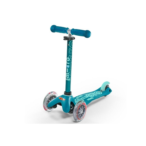 This Micro Scooter glows with motion-powered LED wheels generated through dynamo mechanics.
