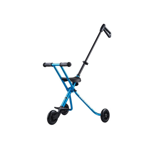 The Micro Trike makes tiresome pushing oft he kiddies buggy along the aisles a thing oft he past, because this shopping companion is foldable, making it extremly compact.