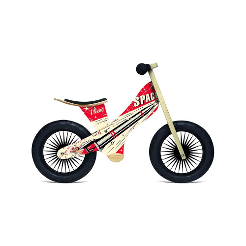 This bike will turn heads at the bike park with it's cool superhero design fly screen printed on the light weight frame, as your little superhero whizzes around the track with the black spoked retro wheels turning.a