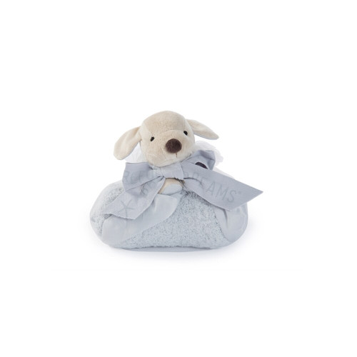 Barefoot Dreams Cozy Chic Buddie Blue Puppy