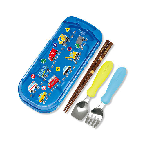EDISONMAMA Spoon/Fork/Chopsticks Trio Set  Blue