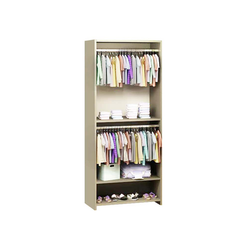 its towers can be used as a closet organizer, bookcase or eventual study center.