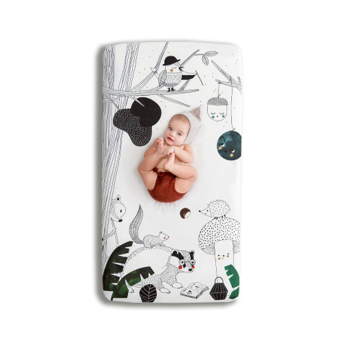 Rookie Humans Fitted Crib Sheet Woodland Dreams