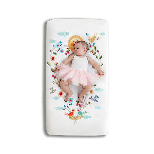 Rookie Humans Fitted Crib Sheet Love Blooms