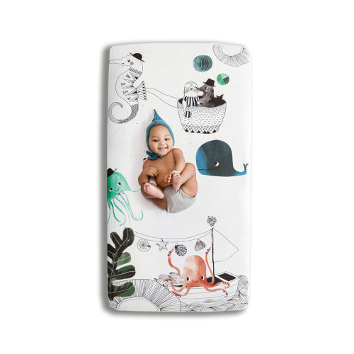 Rookie Humans Fitted Crib Sheet Underwater Love