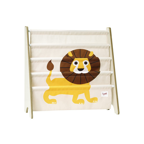 3 Sprouts Book Rack Lion/Yellow
