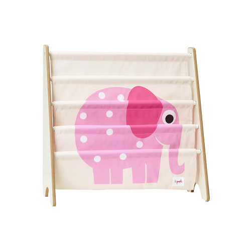 3 Sprouts Book Rack Elephant/Pink