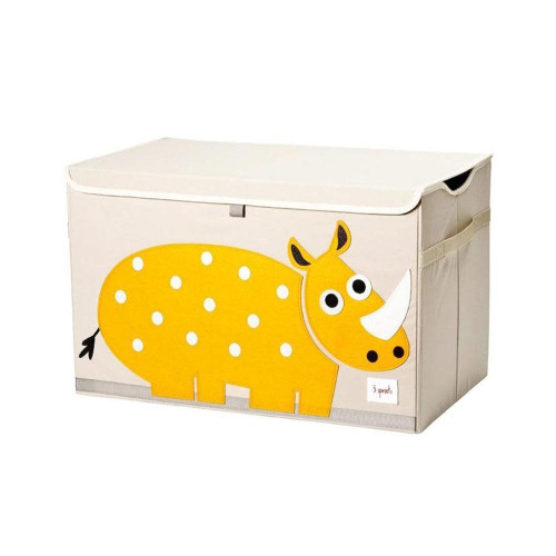The 3 Sprouts toy chest is the perfect organizational tool for any room. With sides reinforced by cardboard, our toy chest stands at attention even when empty and the lid keeps all toys out of sight.