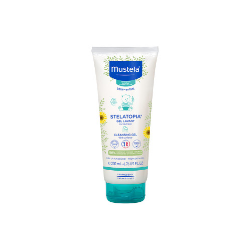 Stelatopia Cleansing Gel is specially designed to provide instant relief to babies and newborns* with atopy-prone skin. Compensating for the drying effect of water, it soothes irritations and tingling, leaving their skin silky soft.
