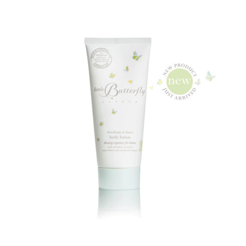 The perfect discovery & travel size.  Exquisitely creamy and pampering, our best-selling, organic-certified body lotion is artfully blended with healing bio-actives and precious oils, that are rich in anti-inflammatories and anti-oxidants. Delivering  deep nourishment and hydration, it moisturises, nurtures and soothes, while providing valuable protection against environmental stressors. Leaves little one's skin beautifully soft, cossetted and content.    Specifically formulated and dermatologist-approved for sensitive, eczema-prone or reactive skin.